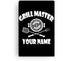 Personalized name grill master geek funny nerd Canvas Print