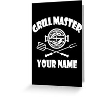 Personalized name grill master geek funny nerd Greeting Card