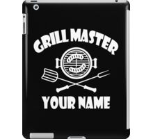 Personalized name grill master geek funny nerd iPad Case/Skin