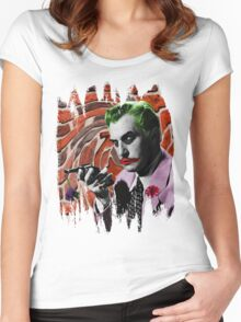 The Joker + Vincent Price Mashup Women's Fitted Scoop T-Shirt