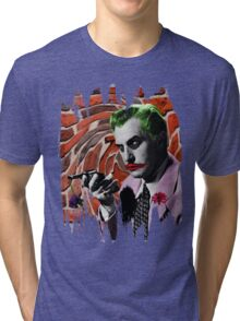 The Joker + Vincent Price Mashup Tri-blend T-Shirt