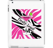 Pink black white zebra martini 21st finally legal geek funny nerd iPad Case/Skin