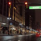 Winter Night, Detroit, Michigan by kelleygirl