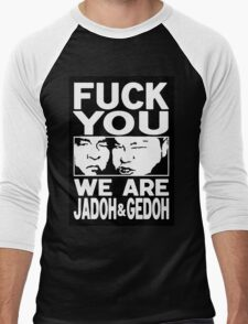 Jado and Gedo SUPER RARE NO VACANCY  Men's Baseball ¾ T-Shirt