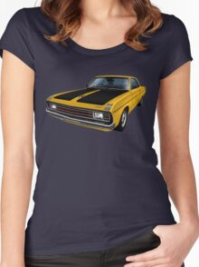 Chrysler Valiant VG Pacer Coupe - Mustard Women's Fitted Scoop T-Shirt