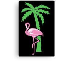Pink flamingo geek funny nerd Canvas Print