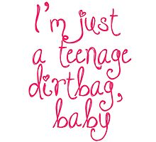 I'm Just a Teenage Dirtbag Baby by Anna Wilson