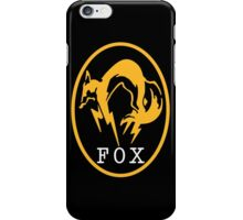"MGS - ""FOX"" Logo iPhone Case/Skin"