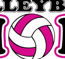 Volleyball mom geek funny nerd Sticker