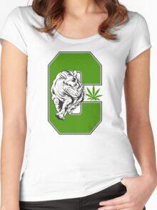 White Rhino Marijuana Women's Fitted Scoop T-Shirt