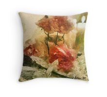Roses and Lavenders Throw Pillow