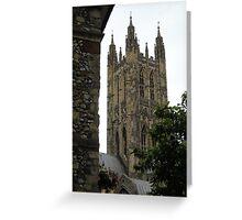 A Canterbury Spire Greeting Card