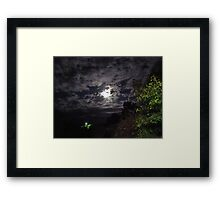 From light to light in the night Framed Print