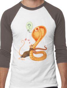 Rat Loves Snake Men's Baseball ¾ T-Shirt