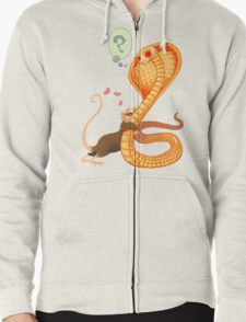 Rat Loves Snake Zipped Hoodie