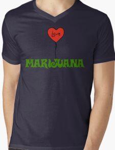 I Love Marijuana Mens V-Neck T-Shirt