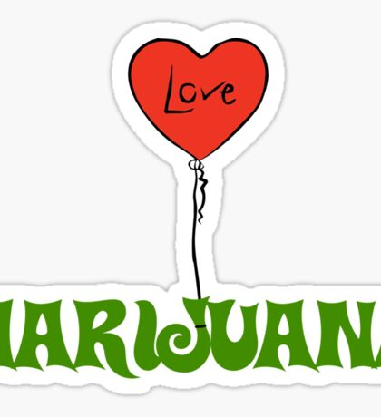 I Love Marijuana Sticker