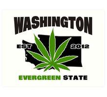 Washington Marijuana Cannabis Weed  Art Print