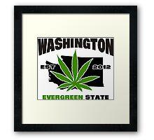 Washington Marijuana Cannabis Weed  Framed Print