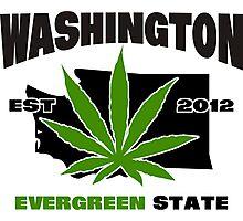 Washington Marijuana Cannabis Weed  Photographic Print