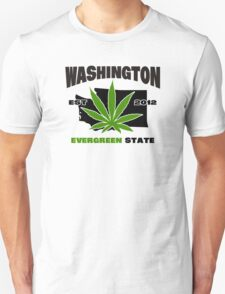 Washington Marijuana Cannabis Weed  Unisex T-Shirt