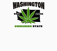 Washington Marijuana Cannabis Weed  Womens Fitted T-Shirt