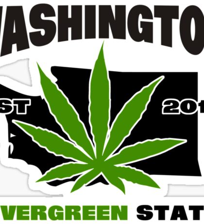 Washington Marijuana Cannabis Weed  Sticker