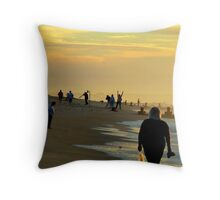 Cape May Sunworshippers Throw Pillow