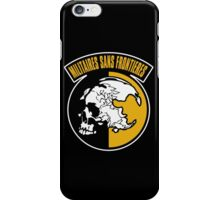 """MGS - """"Militaires Sans Frontières"""" Logo iPhone Case/Skin"""