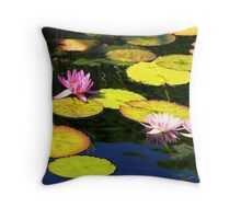 Waterlilies - Chicago Botanic Garden Throw Pillow