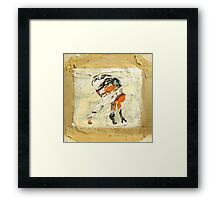 Act covered with mud Framed Print