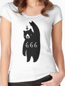 Black Bear Metal Women's Fitted Scoop T-Shirt