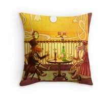 cafe nine Throw Pillow