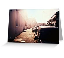 Street in the sunshine Greeting Card