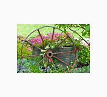 Vintage Wheel Garden Scene - Digital Oil  Unisex T-Shirt