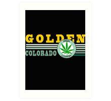 Cannabis Golden Colorado Art Print