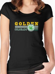 Cannabis Golden Colorado Women's Fitted Scoop T-Shirt