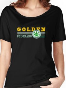 Cannabis Golden Colorado Women's Relaxed Fit T-Shirt