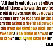 All That Is Gold Does Not Glitter by kali123