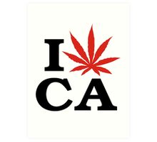 I Love Marijuana Canada Art Print