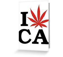 I Love Marijuana Canada Greeting Card