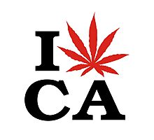 I Love Marijuana Canada Photographic Print