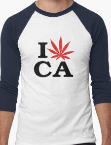 I Love Marijuana Canada Men's Baseball ¾ T-Shirt