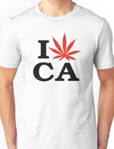 I Love Marijuana Canada Unisex T-Shirt