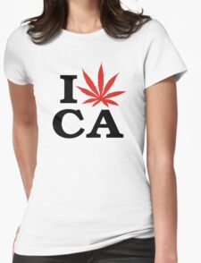 I Love Marijuana Canada Womens Fitted T-Shirt