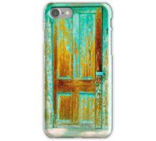 The Turquoise Cabin Door iPhone Case/Skin