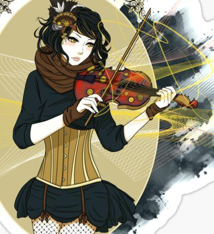 Violin Enamor Sticker