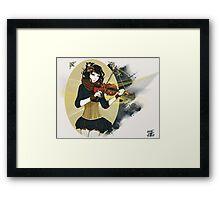 Violin Enamor Framed Print