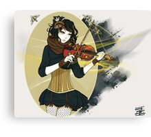 Violin Enamor Canvas Print