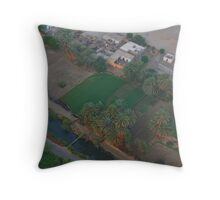 Egyptian Countryside from on HIgh Throw Pillow
